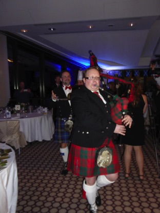 Piping in the haggis (or haggis, as we have 2!)