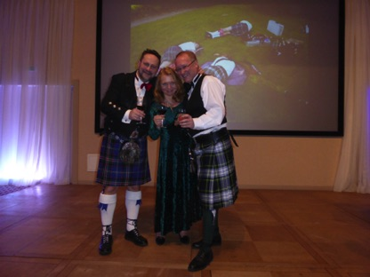 Vasek, Jana and Gordon close our 13th Burns Night…  We plan to write off Sunday!